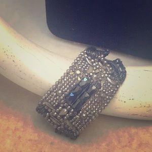 Jewelry - Black hematite and marquisette cuff bracelet